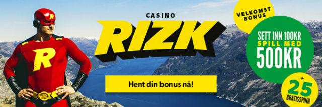 Norsk storgevinst hos Rizk!
